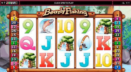 Rubyfortune - Bearly Fishing Slot screen-shot on mobile