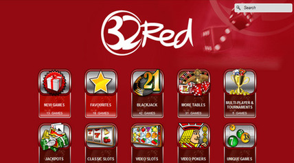32red - Casino Lobby screen-shot on mobile